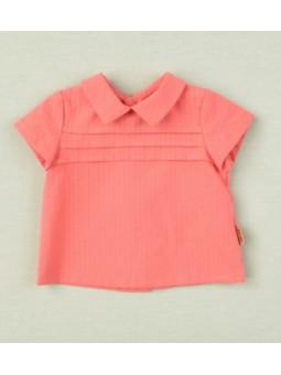 Camisa cuello bebé coral