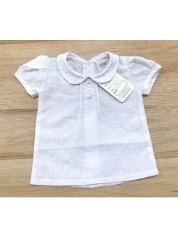 Camisa m/c cuello bebé chico